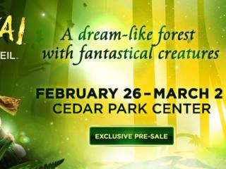 flyer for Cirque du Soleil's Varekai at Cedar Park Center