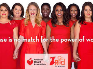women in red dresses for Go Red for Women Summit