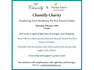 Chantilly fundraiser