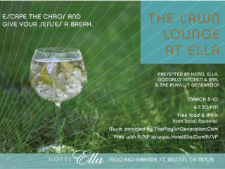 poster for the Lawn Lounge at Hotel Ella for SXSW 2014