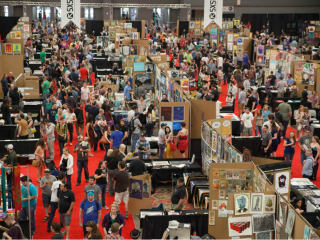 convention floor for the Flatstock expo for SXSW