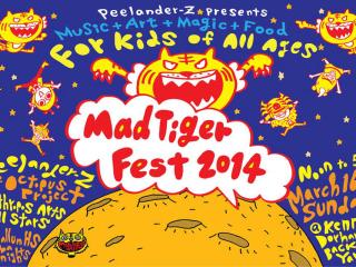 poster for Mad Tiger Fest 2014 with Peelander-Z