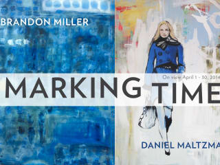 poster for Marking Time exhibit at Russell Gallery