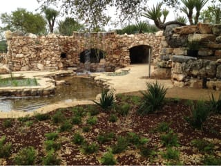 grotto at the Luce and Ian Family Garden at Lady Bird Johnson Wildflower Center