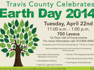 flyer for Travis County Earth Day Celebration 2014