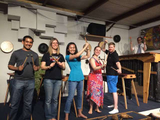 Rattletree school of Marimba with students