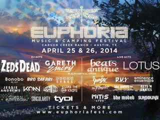 poster lineup of 2014 Euphoria Music Festival