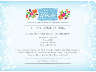 poster for Wonders and Worries What a Wonder Gala - Que Marvilla