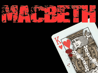 poster for Shakespeare at Winedale performance of Macbeth