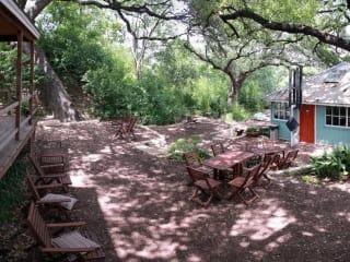 exterior grounds of Sanctuary Yoga