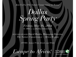 Nature Conservancy in Texas presents Dallas Spring Party