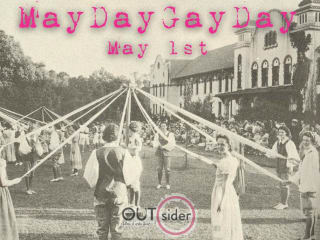poster for OUTsider Film and Art Festival's first MayDayGayDay