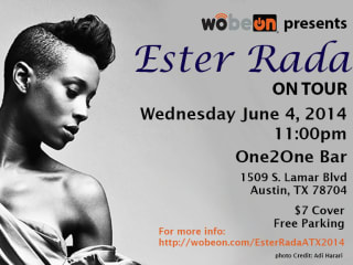 poster for Ester Rada at One2One bar presented by Wobeon