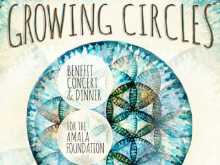 poster for Growing Circles concert for the Amala Foundation