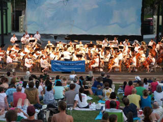 Austin Civic Orchestra performing pops concert in the park