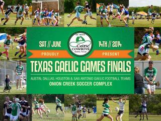 flyer for Texas Gaelic Games Finals 2014