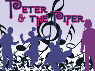 poster for Peter and the Piper at the long center for Pollyanna Theatre