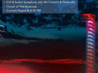 Circuit of the Americas tower for Fourth of July concert