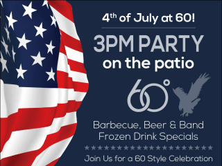 """""""Party on the Patio"""" at 60 Degrees Mastercrafted"""