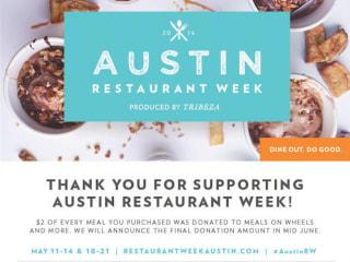 poster Austin Restaurant Week 2014 spring thanking participants