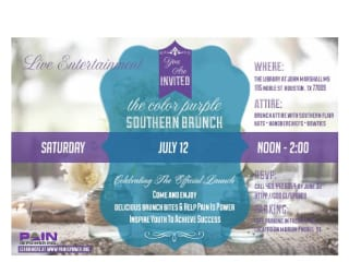 "Pain Is Power's launch event ""A Southern Brunch"""