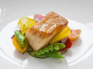 sea bass dish from Finn & Porter for Eat Out for Good 2014