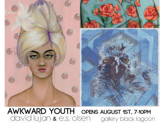 poster Awkward Youth exhibit at Gallery Black Lagoon