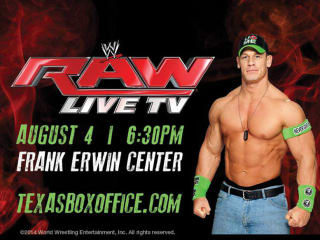 WWE Monday Night Raw Austin Frank Erwin Center august 2014