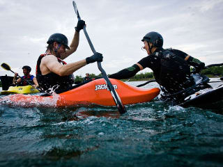 Bayou City Outdoors Kayak Polo & Rolling Practice