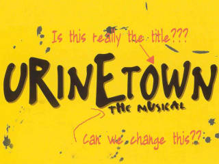 poster Urinetown at City Theatre Company austin