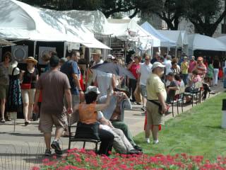 BCAF_Bayou City Art Festival_downtown_artist booths