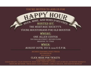 """Heritage Society hosts """"Young Houstonians for Old Houston"""" Happy Hour"""