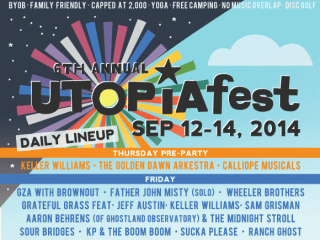 poster for 2014 sixth annual UTOPiAfest