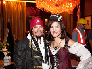 12 James and Janet Golden at the Bone Bash Halloween party October 2013