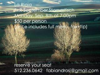 Fabi + Rosi Stammtisch dinner La Rioja