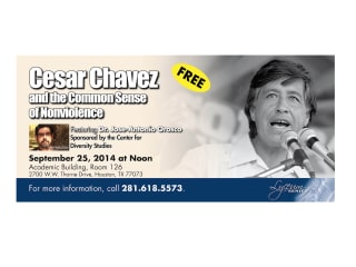 """Open discussion: """"Rhetoric of Nonviolence of Cesar Chavez"""""""