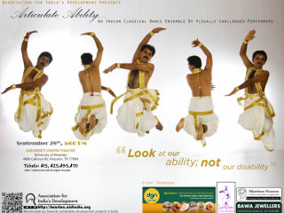 "AID Houston presents ""Articulate Ability: An Indian dance ensemble by visually challenged performers"""