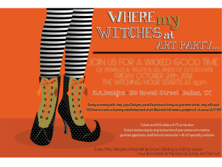 Morgan Allen Designs presents Where My Witches At Art Party