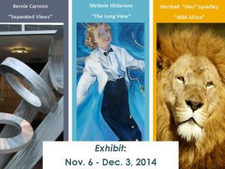 Metal Dreams and Africa Art Exhibit November 2014