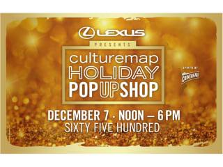 CultureMap Holiday Pop Up Shop