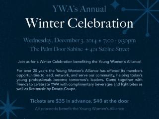 Young Women's Alliance Winter Celebration - 2014