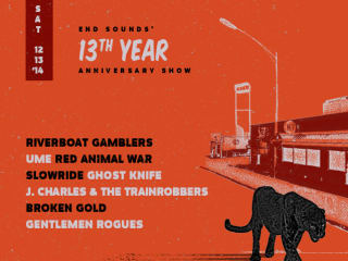 End Sounds 13th Year Anniversary Show at Red 7 poster CROPPED - December 2014