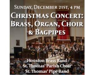 "St. Thomas' Episcopal Church Christmas Concert: ""Brass, Organ, Choir & Bagpipes"""
