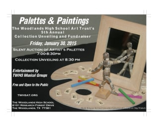 "2015 ""Palettes and Paintings"" benefiting The Woodlands High School Art Trust"
