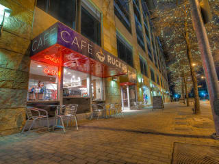 exterior of Cafe Ruckus downtown 2nd street district