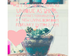 Valentine's Day Pop Up Terrarium Bar at New Living Bedroom