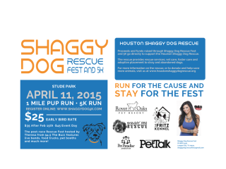 Shaggy Dog Rescue Fest and 5K