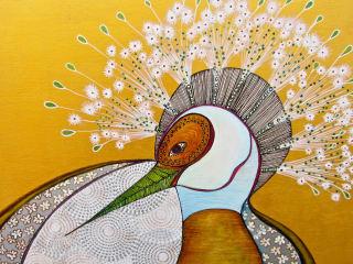 Jung Center art opening reception: Magic Birds by Tania Botelho