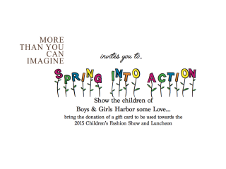 """""""Spring into Action"""" benefiting Boys and Girls Harbor"""