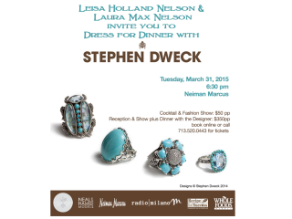 """Recipe For Success Foundation presents """"Dress For Dinner"""" with Stephen Dweck"""